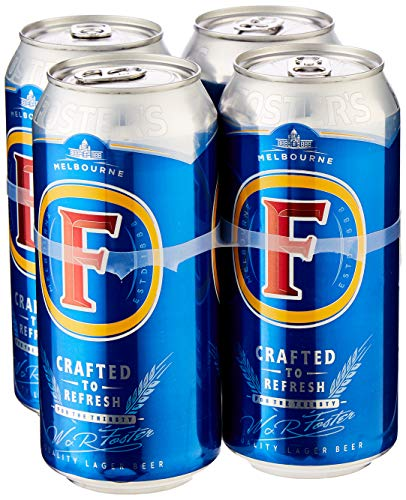 Fosters Lager Beer Can, 4 x 440ml