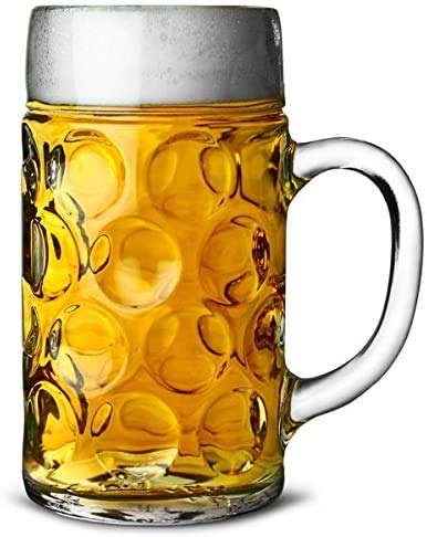 German Beer Stein Glass 2 Pint | Classic Beer Tankards, Beer Mugs, Beer Steins | 2 Pint Glass Beer Tankards by Chabrias…