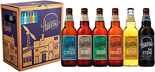 Hobsons Brewery Premium Craft Beers Gift Set – Mixed Ale Taster Selection 6 Pack – Ideal for Birthday & Thank You Gifts…