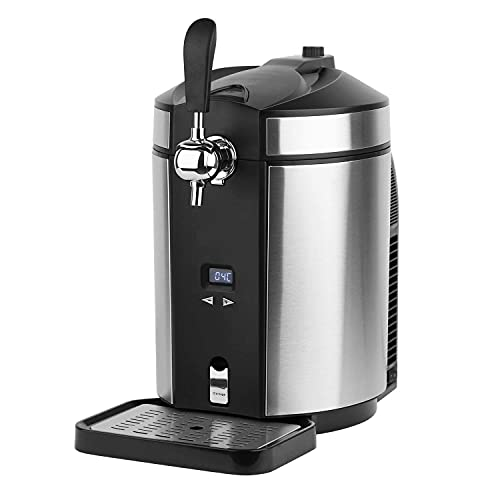 Home Draught Beer Dispenser – Use Any 5L Kegs or Fill Your own. Integrated Cooler Chills, Beer tap Does The Rest! Draft…