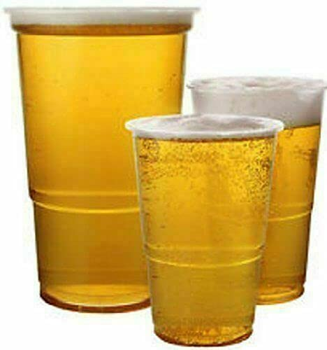 Hyper Mart Premium Quality Clear Full Pint Beer Cups Glasses Party Event Birthday Pack of 50 Perfect for Beer, Mixers…