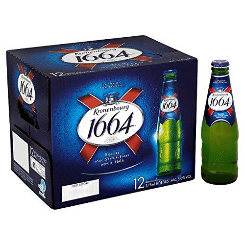 Kronenbourg 1664 Premium Beer 12 x 275ml (Pack of 12x275m)