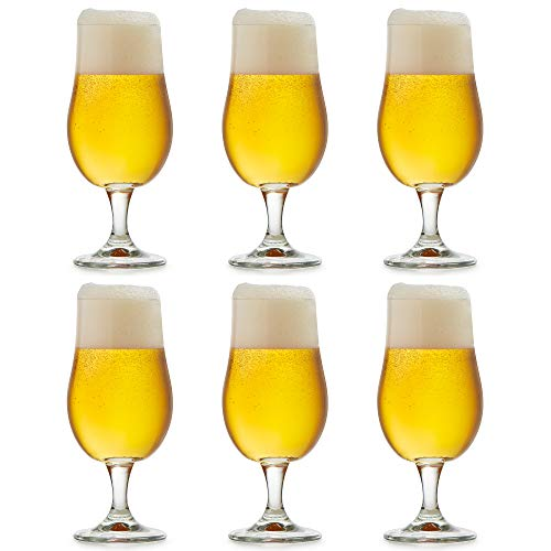 Libbey Munique Beer Glass – 37 cl / 370 cl – Set of 6 – Footed – Functional Design