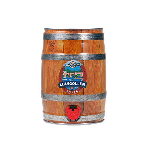 Llangollen Bitter Party Can | Traditional Welsh Craft Beer Keg | Draft Beer Dispenser with Tap – 5 Litre