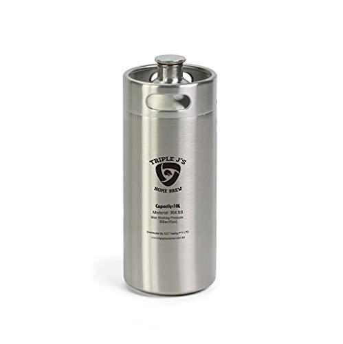Mini Stainless Steel Growler Ss Keg 10l 304 (174mm X 490mm) Home Brew