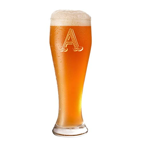 A Monogram Anniversary Wedding Beer Glass