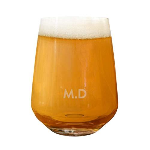 Personalised Custom Craft Beer Glass Tumbler Name Initials 2/3 Pint