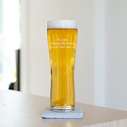 Personalised Special Message Beer Pint Glass, Engraved Beer Glassware for Him, 568ml, Gift Boxed