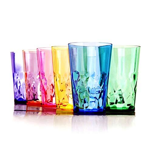 SCANDINOVIA – 568ml Unbreakable Premium Drinking / Pint Glasses – Set of 6 – Tritan Plastic Tumbler Cups – Perfect for…