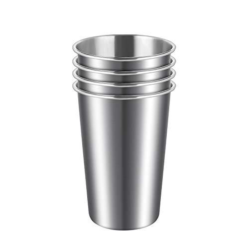 ARKTEK Stainless Steel Cup, 500ml (17oz) Stackable Reusable Metal Beer Tumbler, BPA Free Beer Glasses, Drinking Glass…