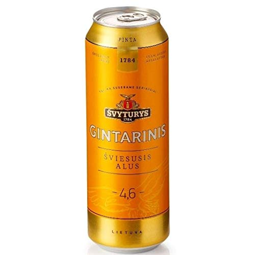 Svyturys Gintarinis Lithuanian Pilsner 4.6% 24 x 568ml cans