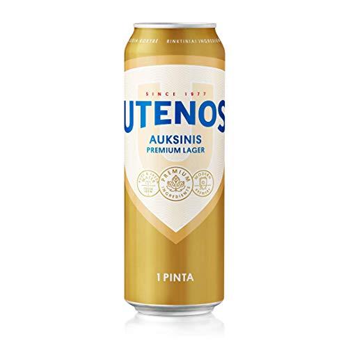 Utenos Auksinis Premium Lager 5% 24 x 568ml cans
