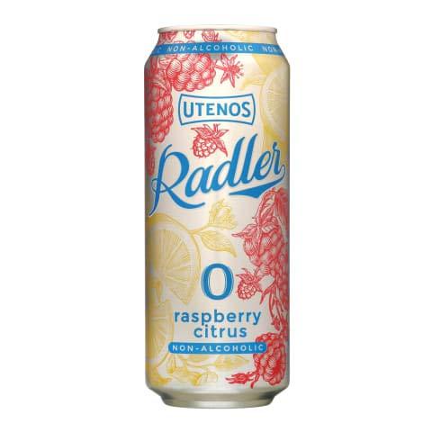 Utenos Raspberry & Citrus 0% Alcohol Free Radler 24 x 568ml