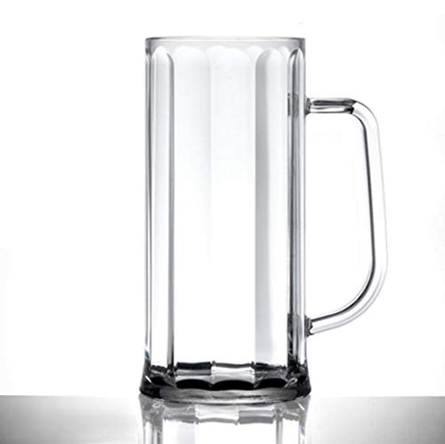 Virtually Unbreakable Polycarbonate Beer Glass Elite BVARIAN Pint TANKARD CE & Nucleated Pack of 1
