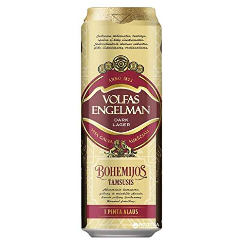 Volfas Engelman Bohemijos 4.2% Dark Lager 24 x 568ml