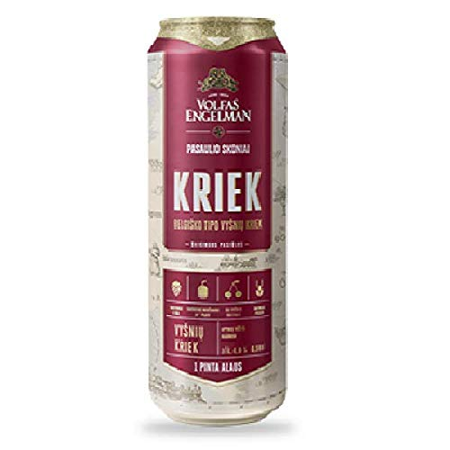Volfas Engelman Kriek 4% Cherry Beer 24 x 568ml cans
