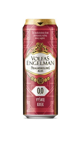 Volfas Engelman Kriek Non Alcoholic Cherry Beer 0% 24 x 568ml