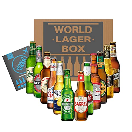 World of Lager Gift Pack, 12 Bottle Mixed Case. A Variety of Favourite Lager Beers Including Stella Artois, Corona…